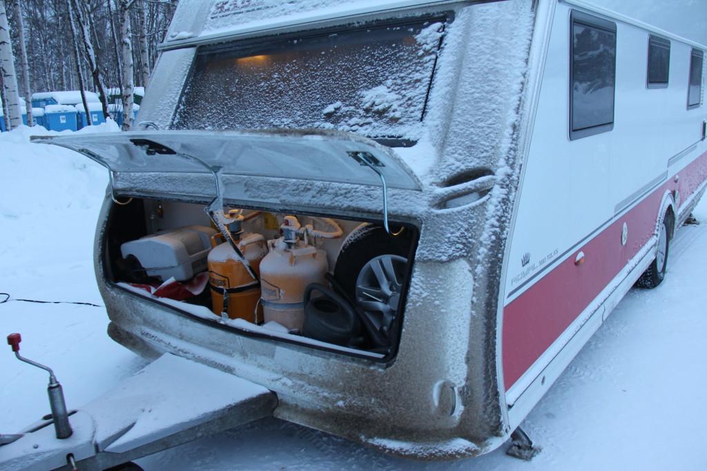 Beklager at vognen er blevet lidt snavset, men det bliver sikkert værre hen ad vejen.