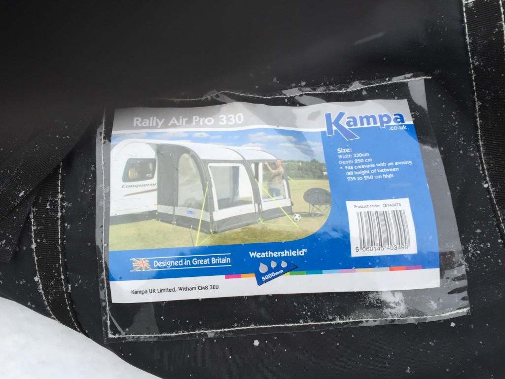Her er navnet på forteltet Kampa Rally Air Pro 330.