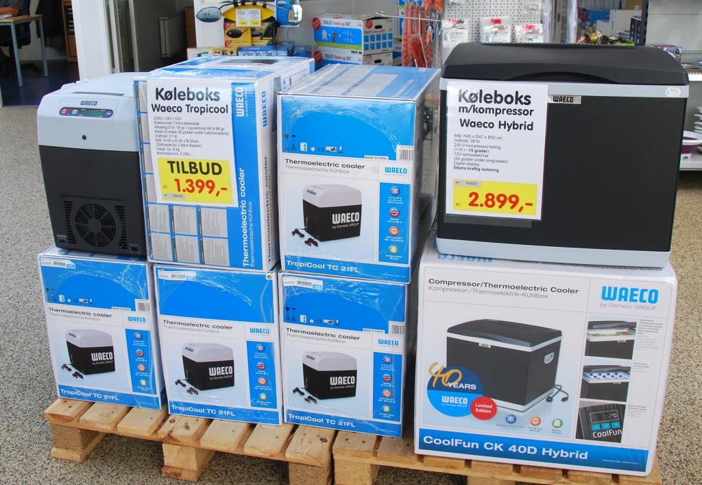 Kølebokse i forskellige udgaver er lagervarer.