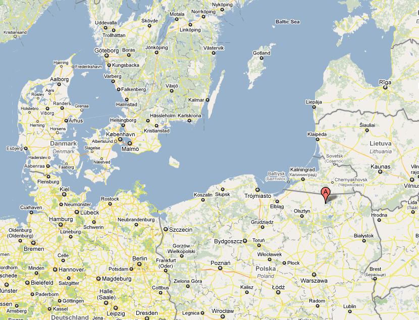 Her ligger Ulveskansen i Polen.