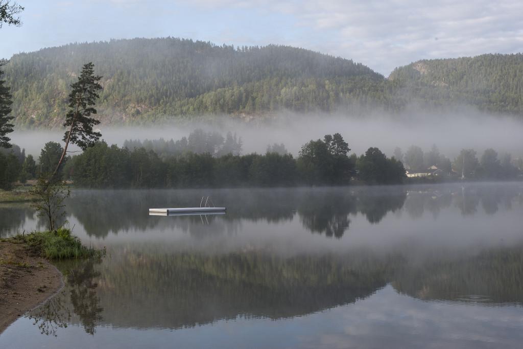 Den sidste morgen på campingpladsen.  Vi havde haft nogle utroligt dejlige og spændende dage her og oplevet meget mere end der kan blive plads til i denne artikel, så en ferie i Telemarken og på Telemark Kanalcamping kan varmt anbefales.
