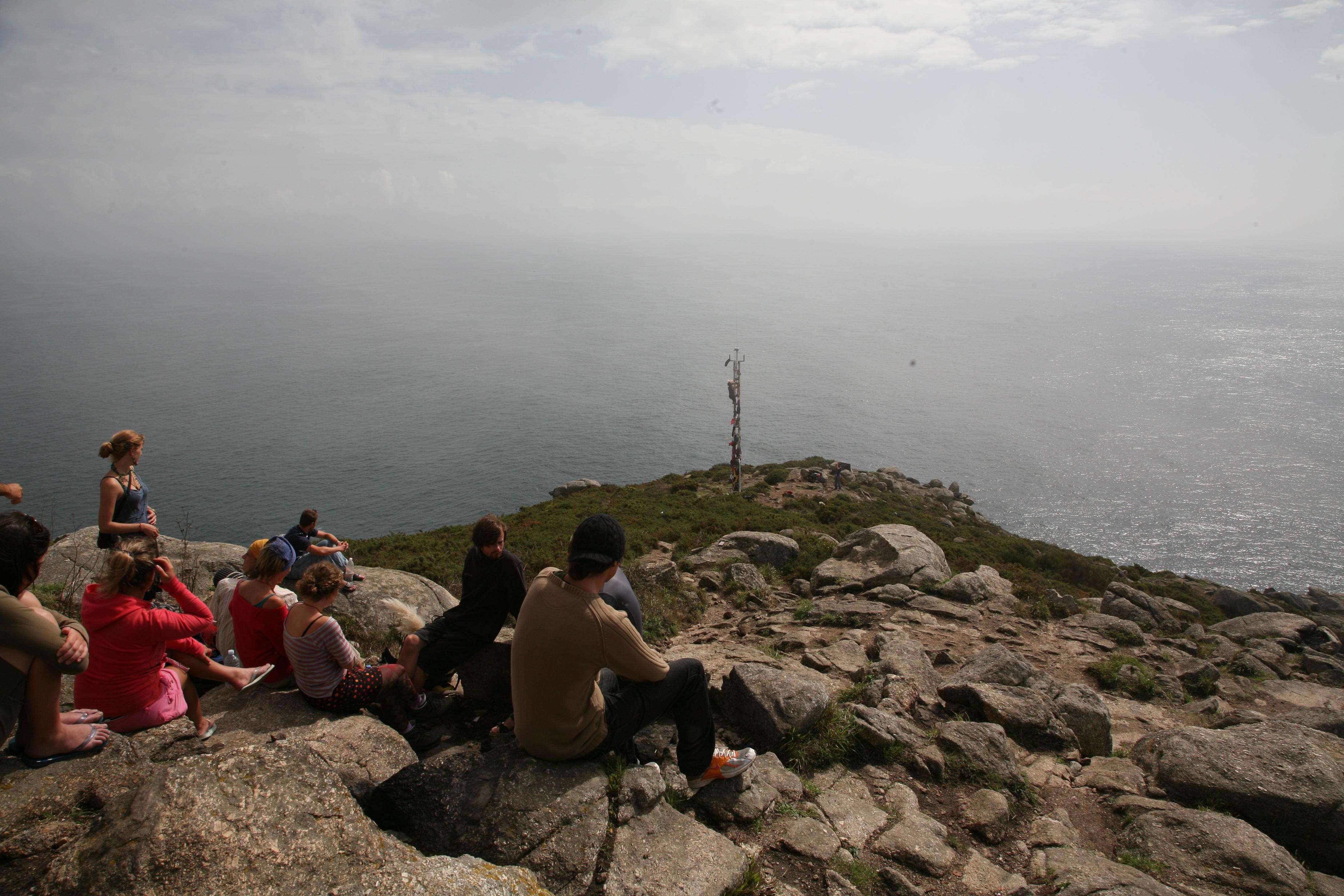 Vi er kørt de ca. 100 km til Atlanterhavet til Finisterre, hvor pilgrimsruten slutter.