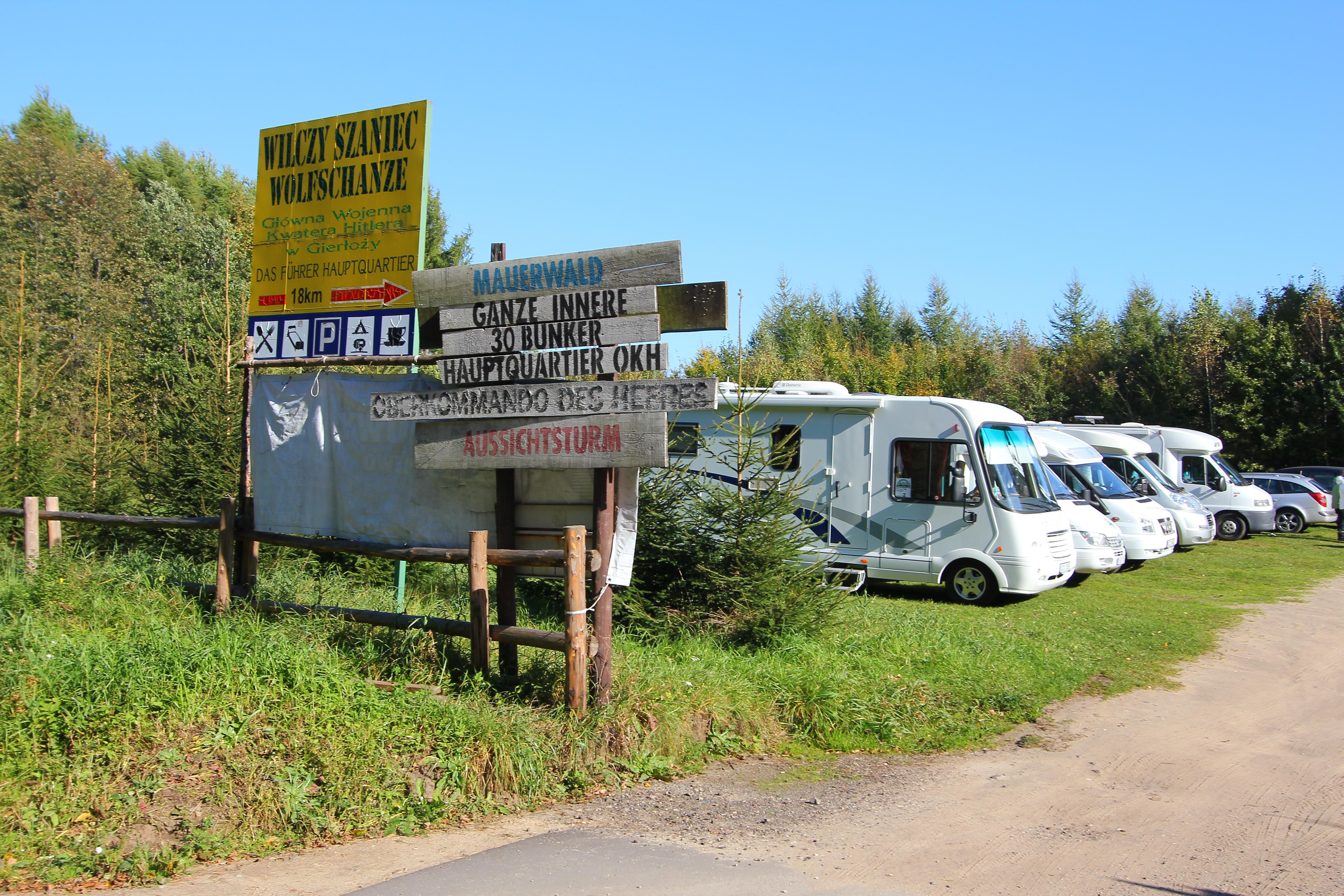 Vi er kørt ca. 20 km længere mod nord til et andet bunkersanlæg i Mauerwald.