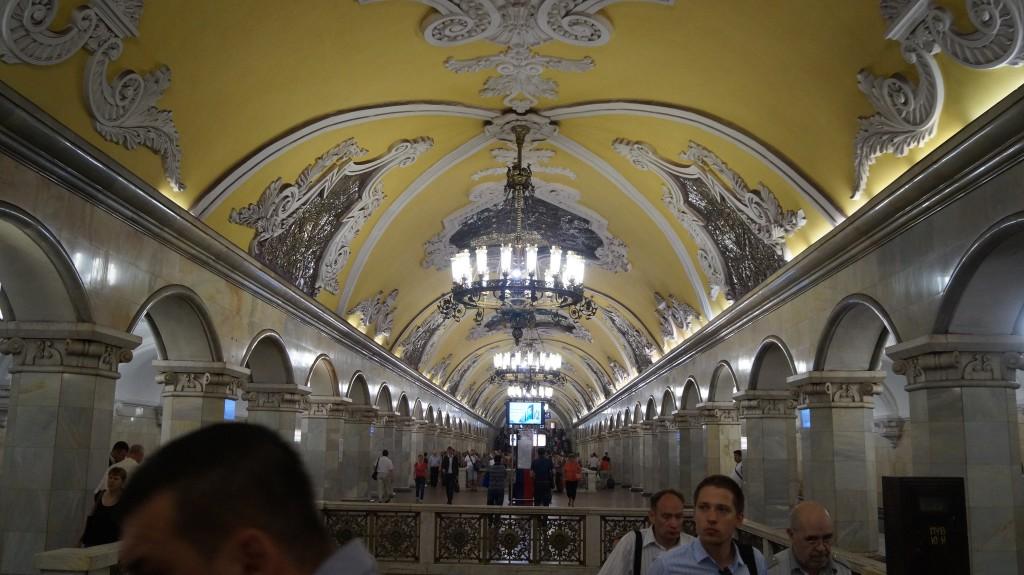 Moskvas metro er en attraktion i sig selv.