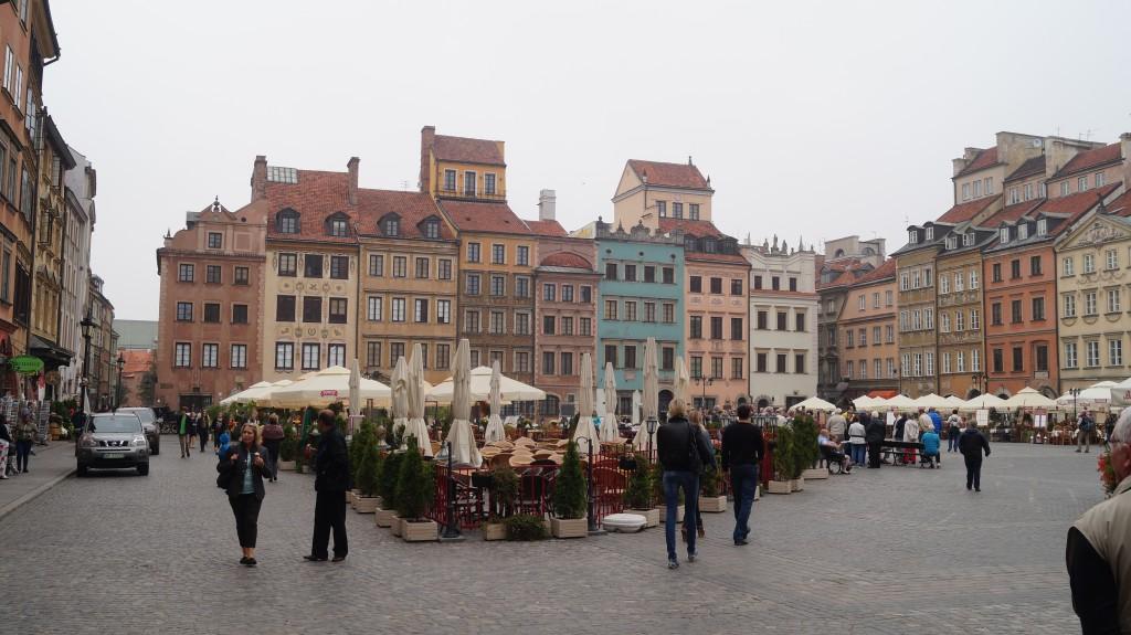 Det gamle torv i Warszawa er et besøg værd.
