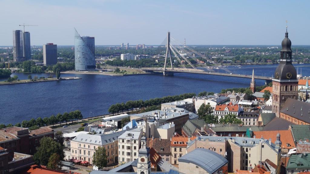 I Riga er der en flot udsigt fra kirketårnet.