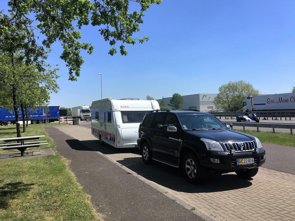 Pause ved den tysk/hollandske grænse.