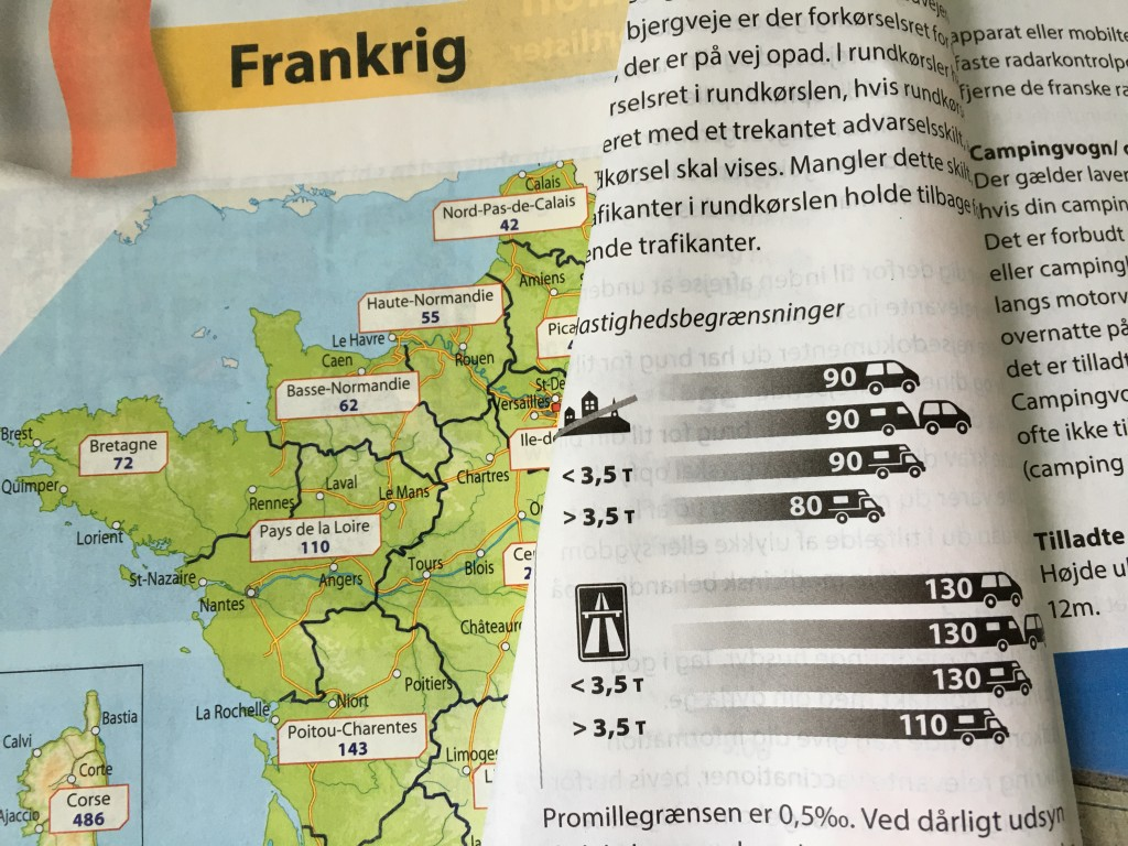 Her er informationerne på Frankrig omkring hastighed.
