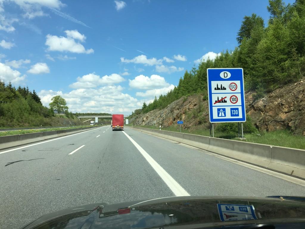 Vi forlader Tjekkiet og kører atter ind i Tyskland og så føler man jo næsten at man er hjemme.