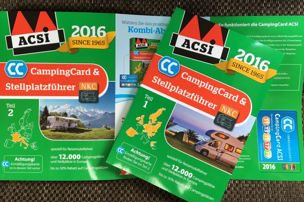 Hvis du kører autocamper kan det måske være interessant for dig at ACSI også kan tilbyde dig 2 bøger hvor der også indgår Stellpladser i Europa. Der følger ligeledes et CampingCard ACSI med i bøgerne. Bøgerne indeholder altså både campingpladser, pladser der giver rabat i lavsæsonen til CampingCard ACSI samt Stellpladser. Ialt 12.000 pladser. Se her: www.campingcard.com/campingferie