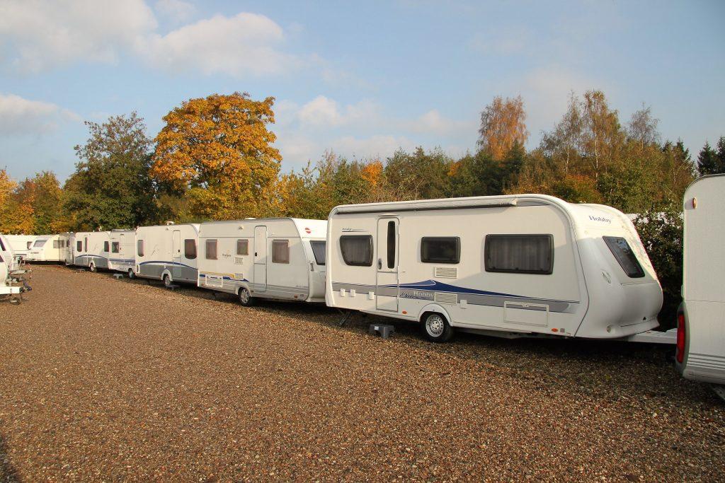 Stort udvalg i både nye og brugte campingvogne.