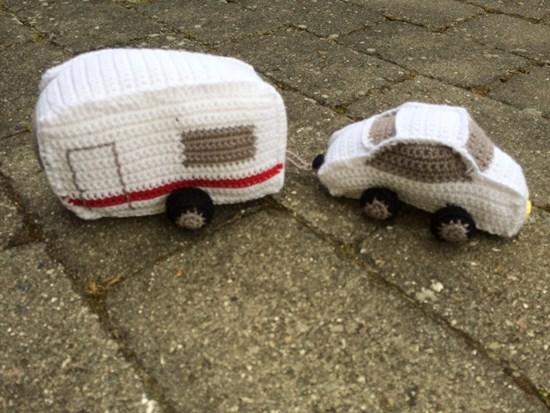 hæklet campingvogn opskrift