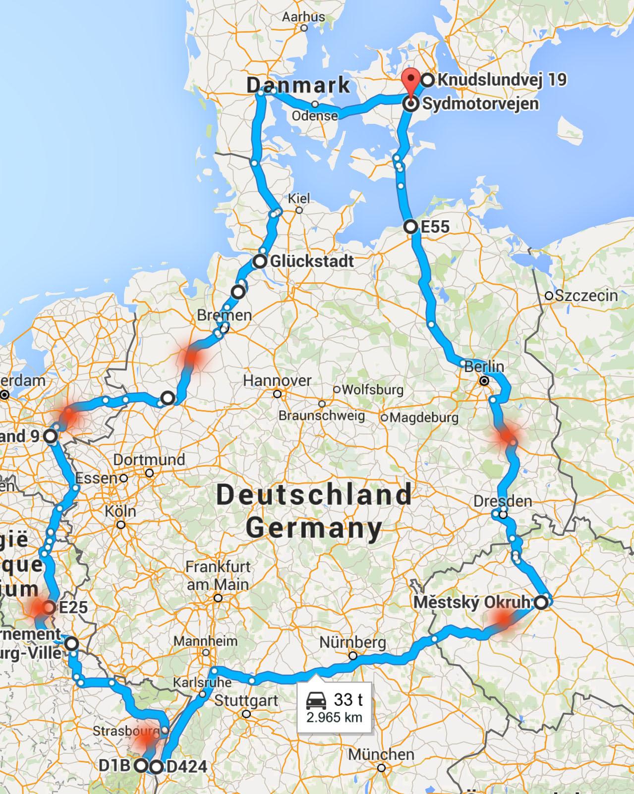 7 Lande på 7 dage - del 1 - Danmark til Tyskland