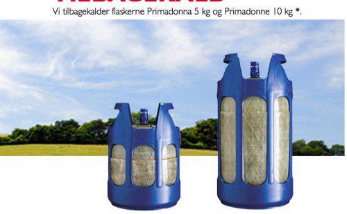 Primagaz tilbagekalder Compolite CS komposit gasflasker