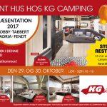 Åbent hus hos KG Camping den 29 og 30 Oktober