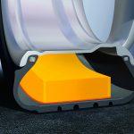 Skum i dækket reducerer støj i kabinen markant