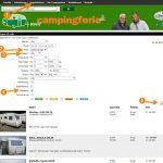 Vælg mellem mere end 120 campingvogne med køjer