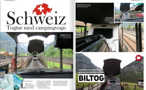 Læs om togtur med campingvogn i Schweiz