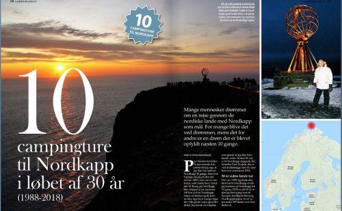 10 campingture til Nordkapp i løbet af 30 år