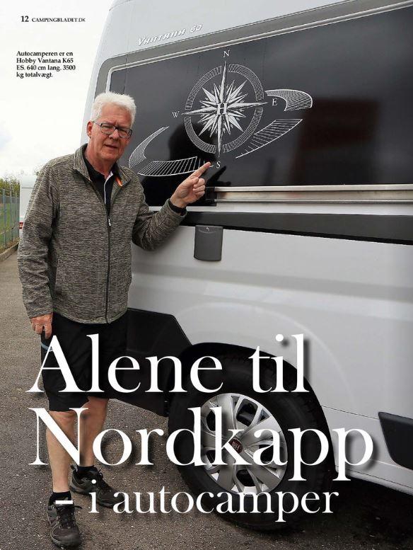 Alene til Nordkapp - i autocamper - starter i dag!