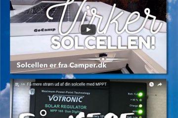 Solceller og 230 volt fra dit batteri