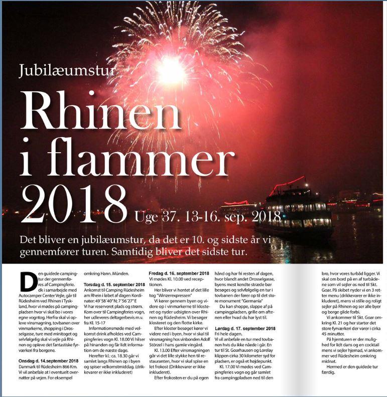 Rhinen i flammer 2018 - Jubilæumstur (Venteliste)