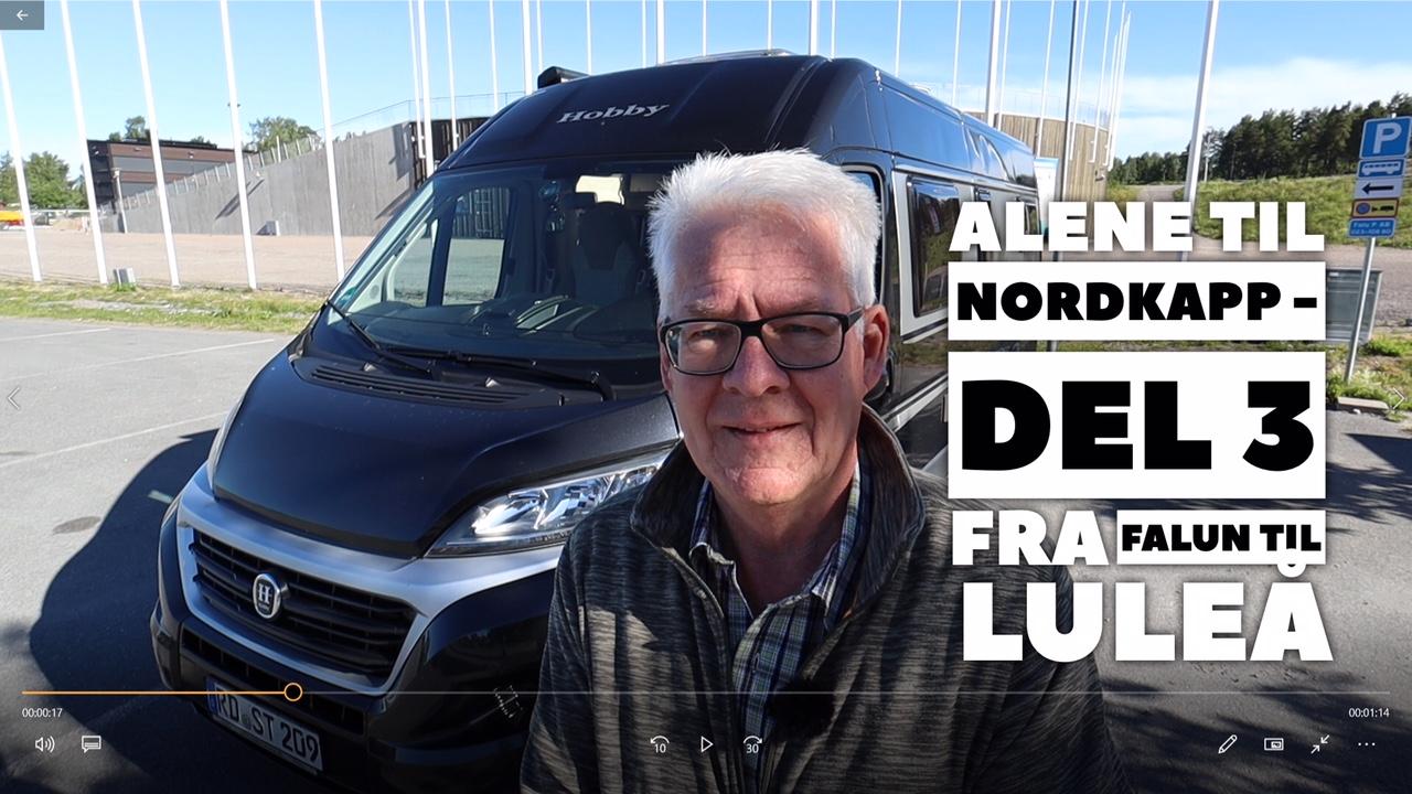 Alene til Nordkapp - del 3 - Falun til Luleå
