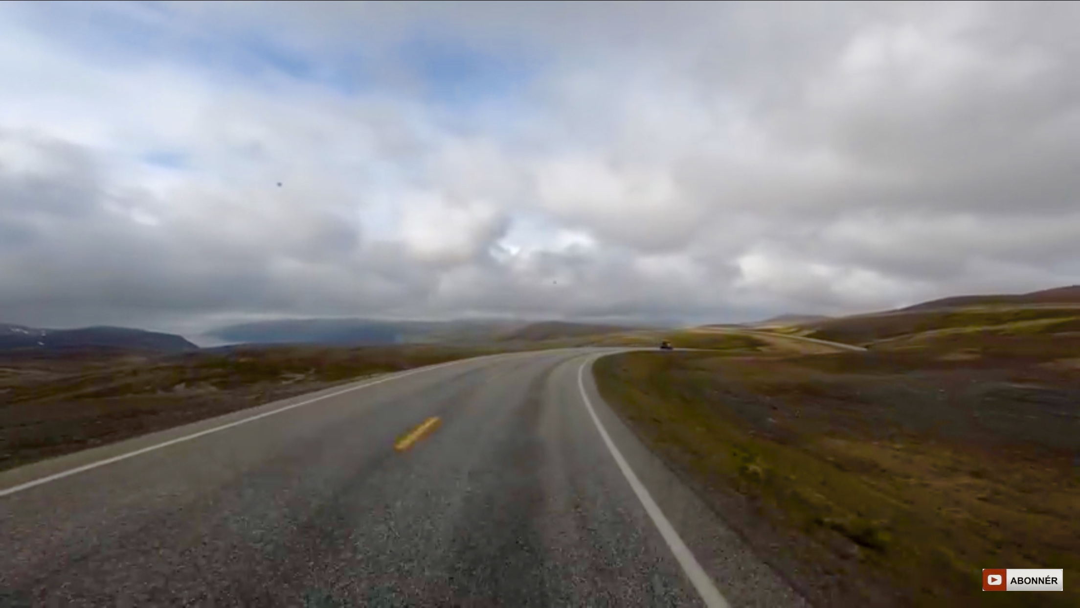 Nordkapp - de sidste 13 km til plateauet