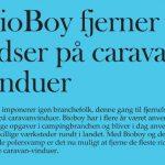 BioBoy fjerner ridser i vinduer på campingvogn og autocamper