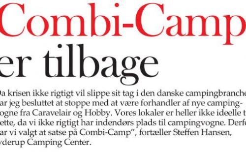 Combi-Camp er tilbage