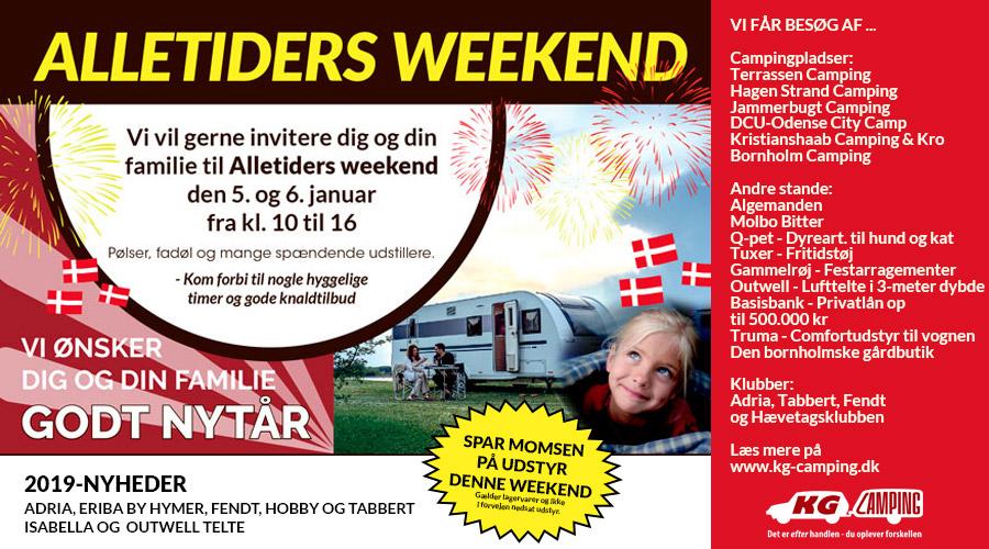 Invitation til Alletiders Weekend  5. - 6. januar 2019