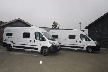 2 nye Hymercar Free kassevognsmodeller ankommet til PB Autocamper