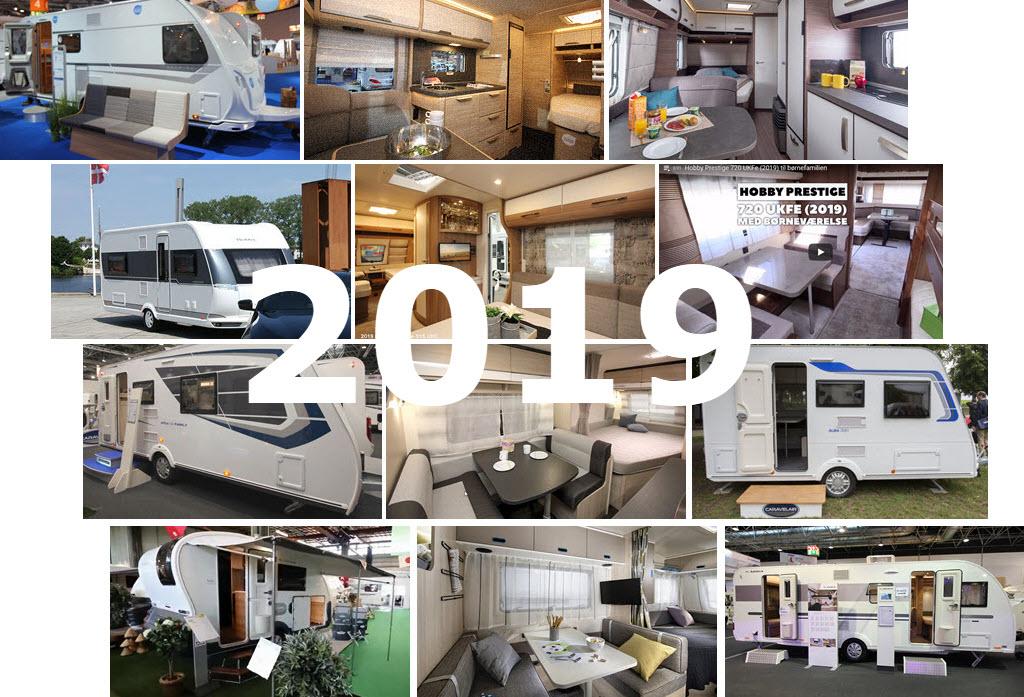 Campingvogne 2019 - Se de nye modeller
