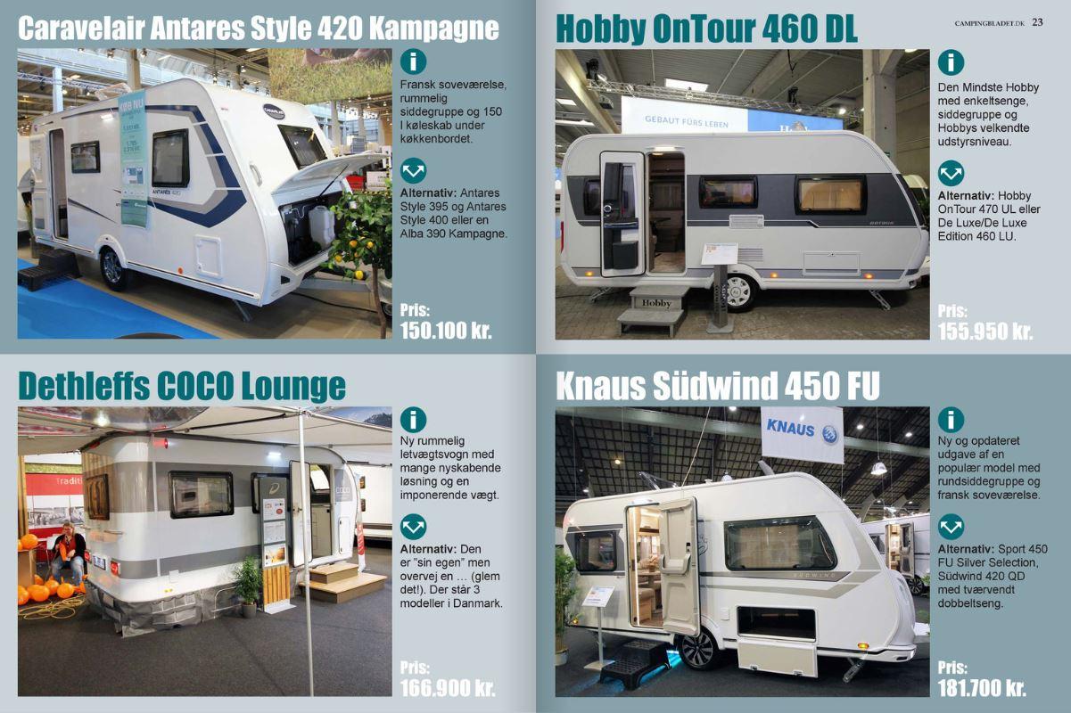 Campingvogne til 2 på tur