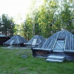 Arvidsjaur - samiske hytter til overnatning i forbindelse med kirkebesøg i byen