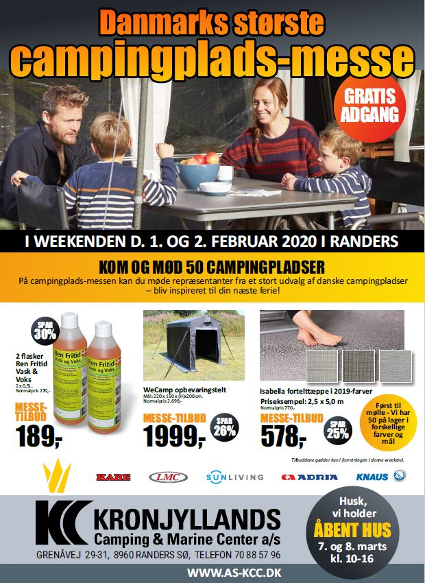 Danmarks største campingplads messe - Gratis adgang - 1. + 2. februar 2020 (Reklame)