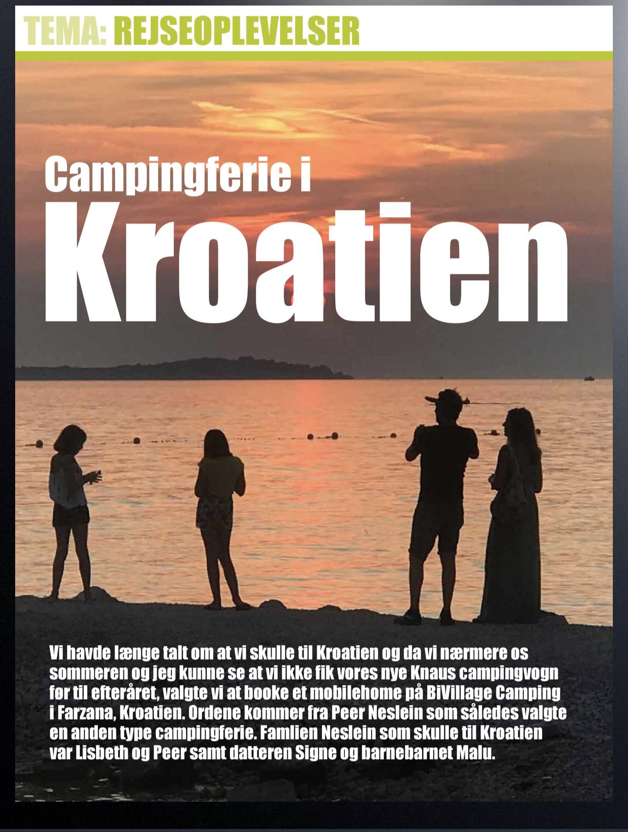 Campingferie i Kroatien (Reklame)