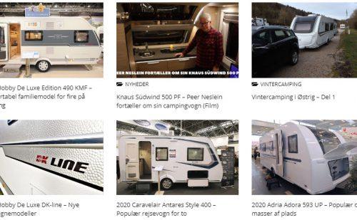 Få et samlet overblik over campingvogne og udstyr fra årgang 2020