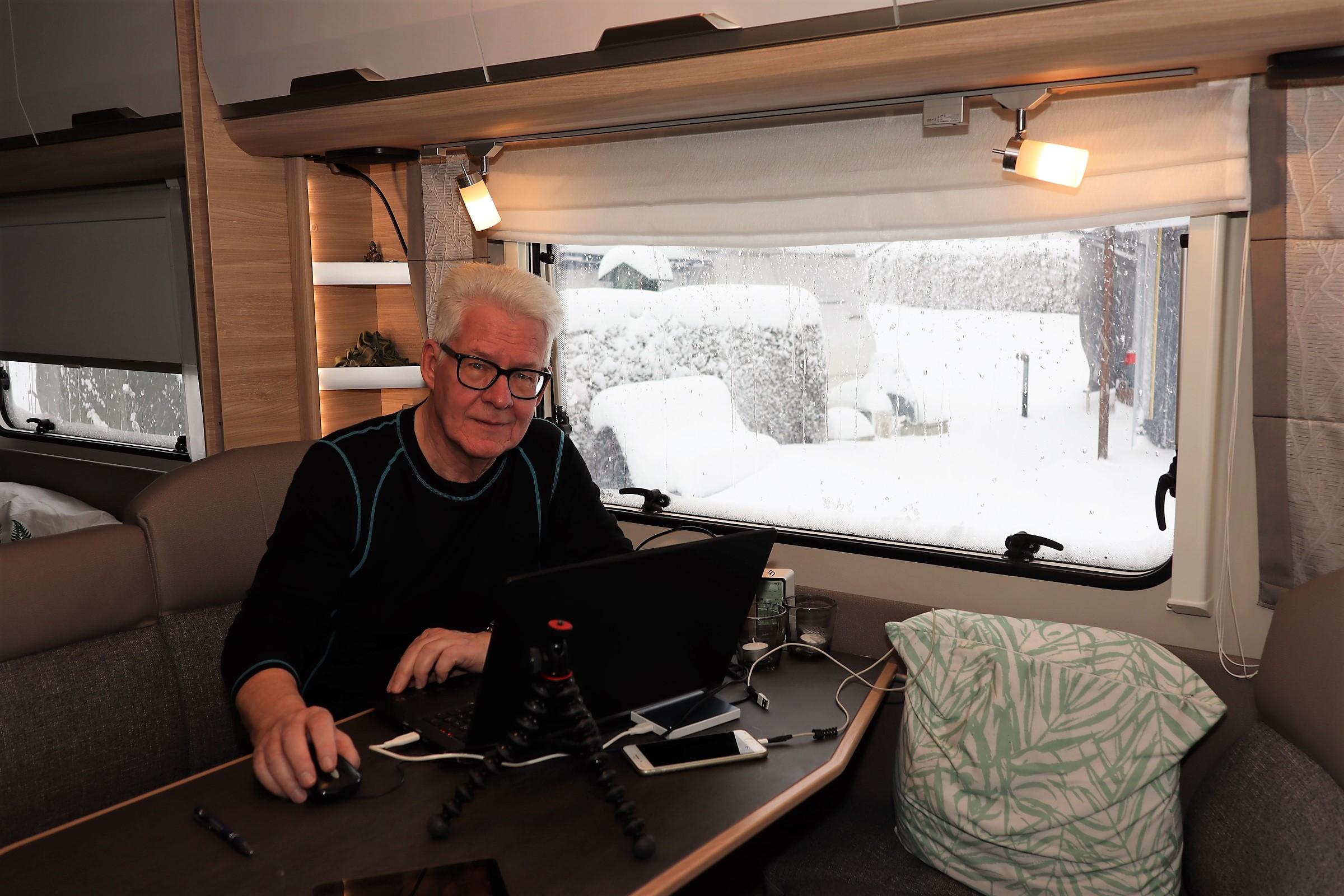 Vintercamping i Østrig - del 5 - så kom der sne