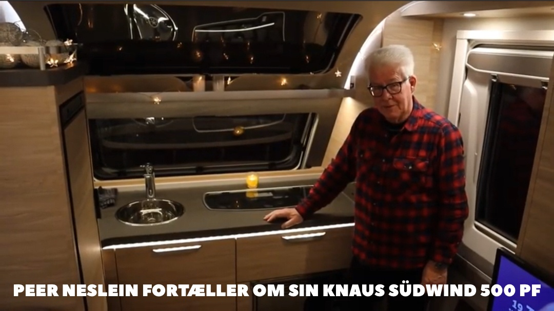 Knaus Südwind 500 PF - Peer Neslein fortæller om sin campingvogn (Film) (Reklame)