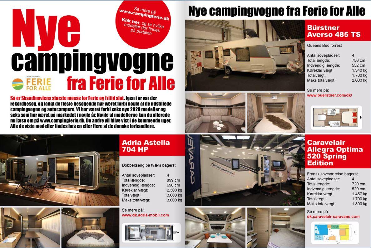 12 Nye campingvogne - 6 nye og 6 kendte (Reklame)