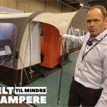 Let rejse lufttelt til California, kassevogne og mindre campere (Reklame)