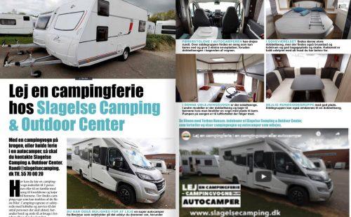 Lej en campingferie i campingvogn eller autocamper (Reklame)
