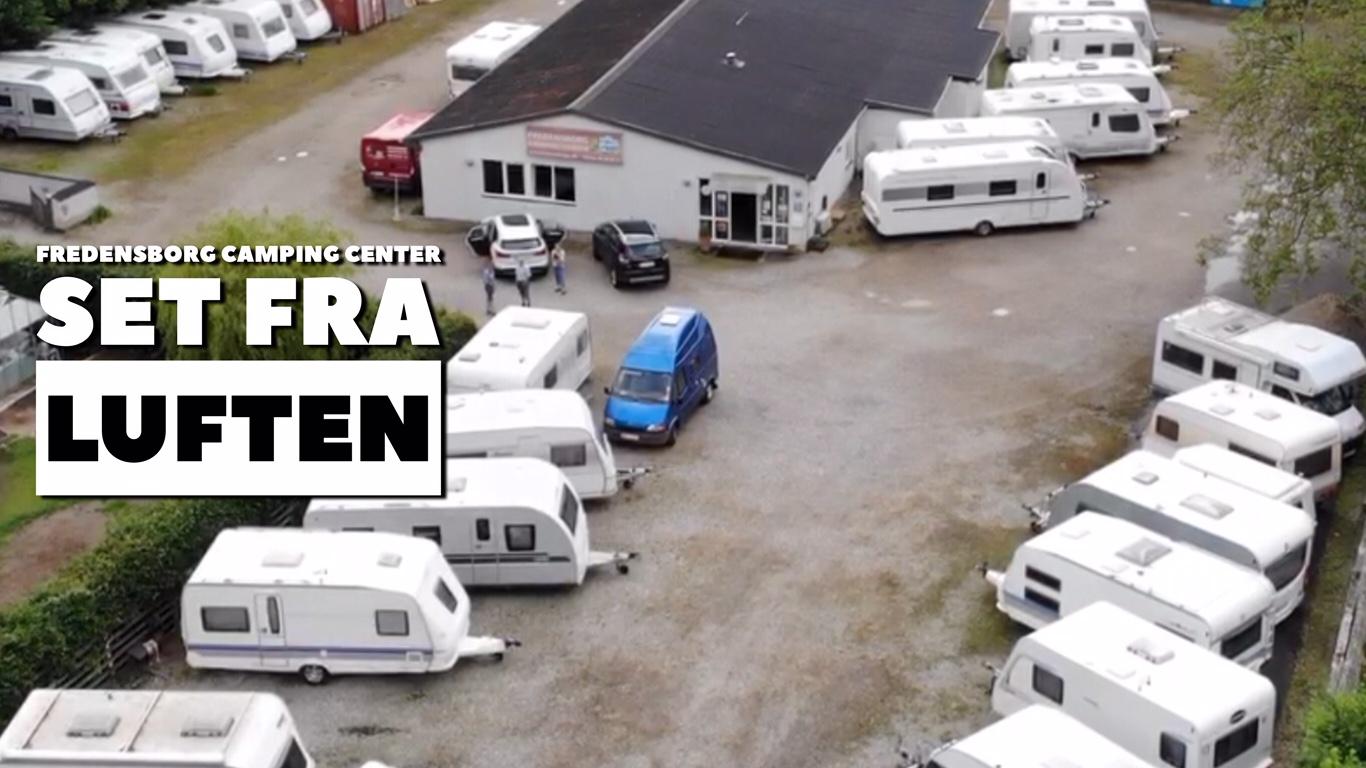 Fredensborg Camping Center set fra luften (Reklame)