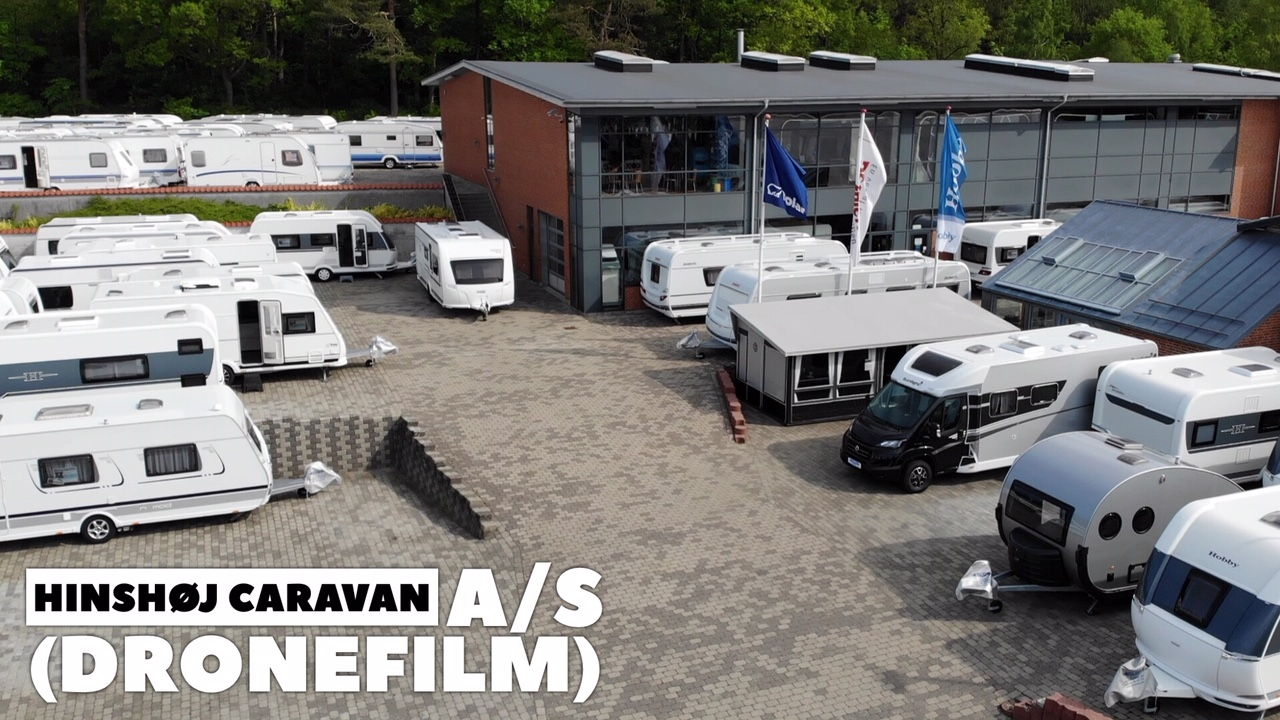 Hinshøj Caravan a/s set fra luften (Dronefilm) (Reklame)