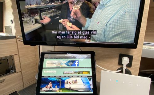 Internet og TV på campingturen