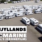 Kronjyllands Camping & Marine Center set fra luften (Dronefilm)