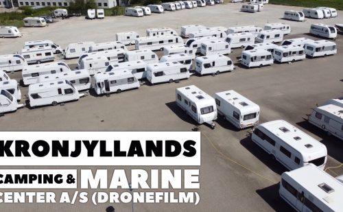 Kronjyllands Camping & Marine Center set fra luften (Dronefilm) (Reklame)