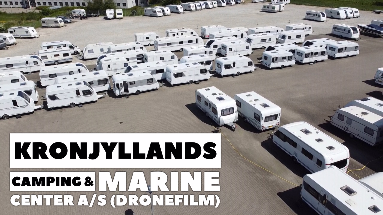 Kronjyllands Camping & Marine Center set fra luften (Dronefilm) (Reklame)