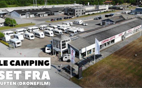 LE Camping set fra luften (Dronefilm) (Reklame)